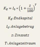 Zinseszins Formel