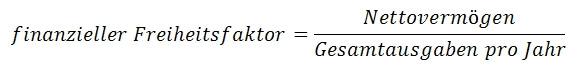 Mit dieser Formel lässt sich die finanzielle Freiheit berechnen.