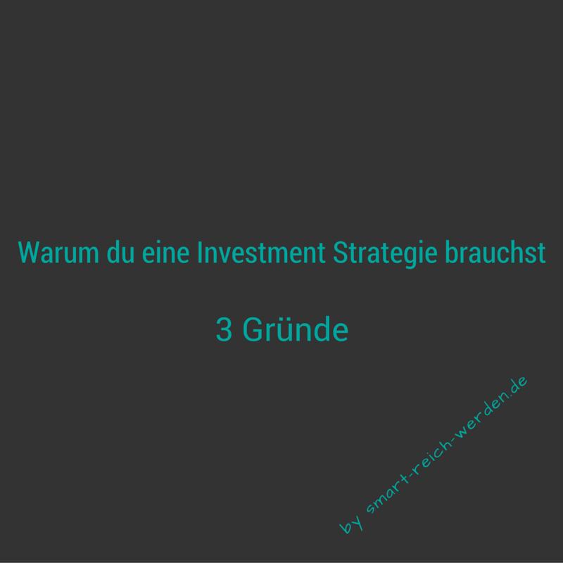 Warum du an der Börse eine Investment Strategie brauchst