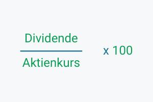 Formel zur Berechnung der Dividendenrendite